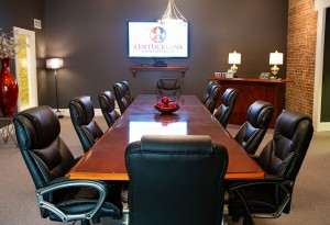 Our comfortable and complimentary conference room.