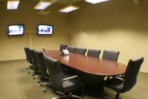 Video conference center at Museum District Business Center.