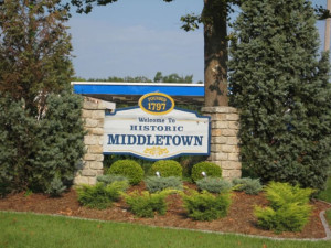 Welcome to historic Middletown sign