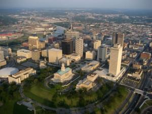 Downtown Nashville aerial photo