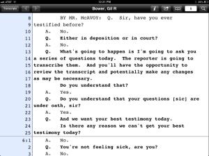 E-transcript viewer